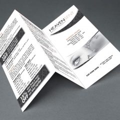 HeavenSent Branded Tri-Folded Price List Leaflet